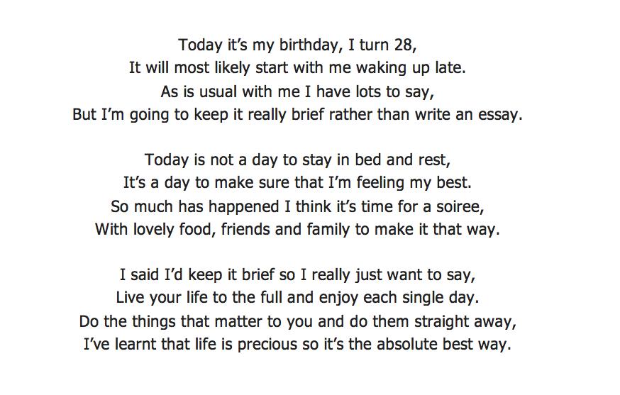 happy birthday essay
