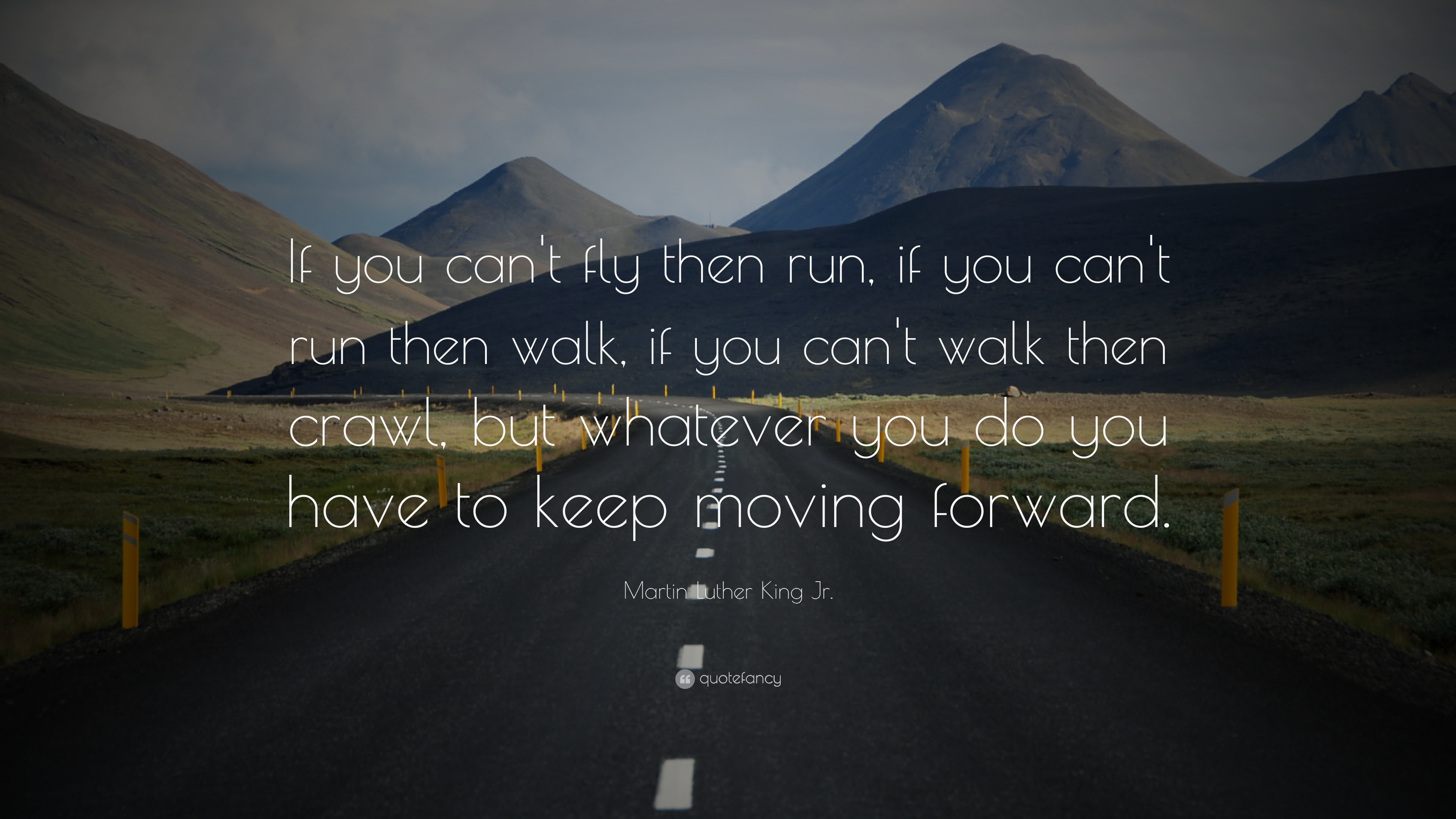 837 Martin Luther King Jr Quote If You Can T Fly Then Run If You Can